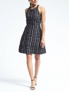 Heritage Racerback Fit-and-Flare Dress | Banana Republic