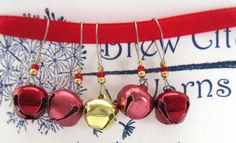 Valentine's Bells  Stitch Markers  Gift for by BrewCityYarns
