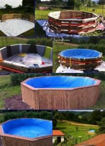 Does the summer heat have you wishing for a pool? You can DIY one the frugal way with pallets! Check out these tips on How Make Your Own Pallet Pool – Beat the Heat and Splash Around in Style! Diy Projects Cans, Diy Pallet Projects, Outdoor Projects, Outdoor Decor, Pallet Ideas, Diy Summer Projects, Diy Swimming Pool, Diy Pool, Homemade Swimming Pools