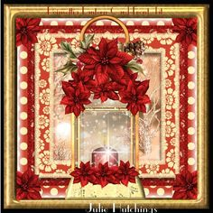 Beautiful Poinsettia Lantern Card Front Kit on Craftsuprint designed by Julie Hutchings - Beautiful card front kit that consists of 2 sheets to print cut and assemble to make a stunning card front with decoupagesheet 1 main and sentimentssheet 2 decoupagesentiments includeHappy ChristmasFrom Across The Milesblank for your own sentimentthank you for looking and please click on my name above for more wonderful design sheets and kits with over 1000 to choose from for all occasions - Now ...