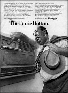 Retro Air Conditioning Ads; don't panic - be cool.