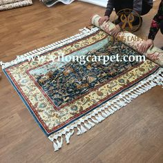 We are packing handmade silk rug for our customer. The hunting design handmade silk rug is also suited to be a gift for your friends. #Hali #handmade #handknotted #handmaderug #handknottedrug#handmadecarpet #handknottedcarpet #persianrug#persiancarpet #orientalrug #orientalcarpet #luxury #art #arearug#areacarpet #beautiful #silkrug #silkcarpet #carpet#rug #turkey #gift size: 100*170 cm www.yilongcarpet.com alice@yilongcarpe... whatsapp:8615638927921