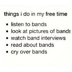 Yeah...>>free time?? free time?? it should be THINGS I DO.