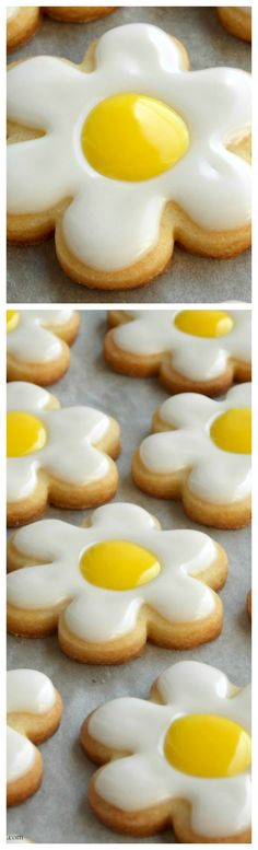 Daisy Sugar Cookies ~ Recipe from Martha Stewart
