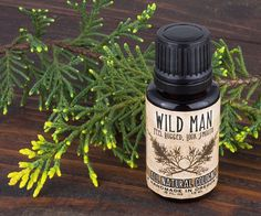 Wild Man Cologne Oil - Unisex Natural Perfume with Cedar and Lime 15ml // .5oz Father's Day
