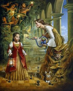On The Edge Of Eternity (Alexandra) by Michael Cheval (1966, Russian-born American)