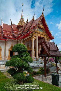 Buddist temple in Phuket, Thailand.