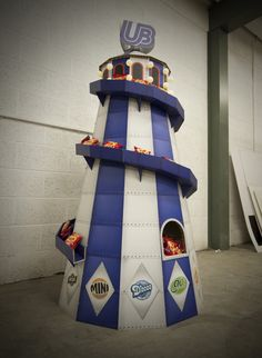 Made By Superior - Cardboard Design. United Biscuits Helter Skelter