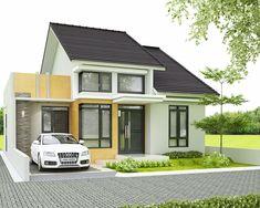 desain lengkap rumah 1 lantai tipe 90 di lahan 10×15 meter | Desain Rumah Garis Porch House Plans, Basement House Plans, Bedroom House Plans, Dream House Plans, Modern Exterior, Exterior Design, Small Modern House Plans, Modern Minimalist House, Facade House