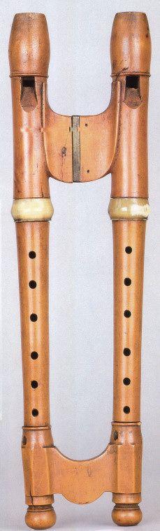 Anonymous echo flute, Grassi Museum für Musikinstrumente, Leipzig