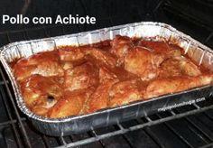 receta pollo achiote horno