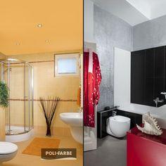 Ktorú kúpeľňu by ste si najradšej adoptovali? :) #polifarbesk #home #homedecor #homedesign #design #bathroom #kupelna #farebneinspiracie #farba #farby #malovanie #malovaniestien #painting #wallpainting #beautiful #modern #rekonstrukcia Bathroom Lighting, Bathtub, Mirror, Painting, Furniture, Beautiful, Home Decor, Standing Bath, Homemade Home Decor