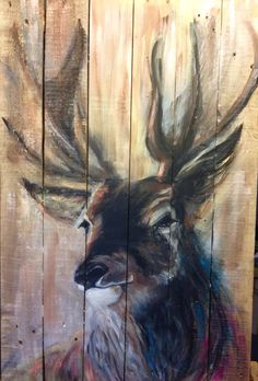 Deer on wood