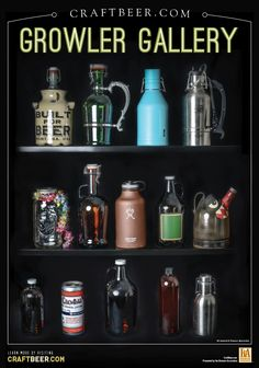 Growler Gallery / The rising popularity of the growler (sweet interactive image - be sure to check it out!)
