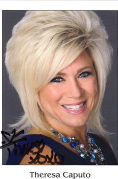 Theresa Caputo, I love this women. I am on her waiting list yay!!