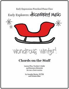 The Teaching Studio: Wondrous Winter! - Super Fun Lesson Plans for Preschool Music Classes!