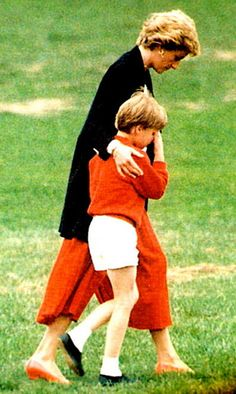 Diana & Will, looks like a Mother comforting her son. I can not imagine how much she is missed.