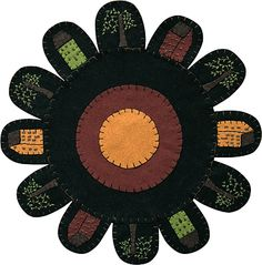 House motif penny candle mat