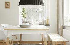 pendelleuchten esszimmer skandinavisches design möbel holz