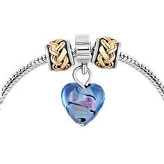 Mom Crystal Heart Silver Plated Knotting Spacer Set Beads Charms Bracelets Fit All Brands Pugster.com