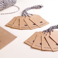 Kleine Kraftpapieranhänger