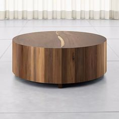 Natural Wood Coffee Table, Drum Coffee Table, Round Wood Coffee Table, Drum Table, Coffee Table With Storage, Unique Coffee Table, Unique Furniture, Custom Furniture, Furniture Decor