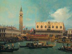 Canaletto, Il Bucintoro al molo nel giorno dell'Ascensione. (1740)  Art Experience NYC  www.artexperiencenyc.com/social_login/?utm_source=pinterest_medium=pins_content=pinterest_pins_campaign=pinterest_initial