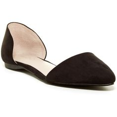 Aldo Macadams d'Orsay Flat ($30) ❤ liked on Polyvore featuring shoes, flats, black, aldo flats, black pointy toe flats, flat pointed-toe shoes, flat slip on shoes and d'orsay flats