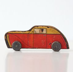 Vintage Toy Car by bellalulu on Etsy