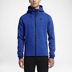 nike tech fleece hoodie mens blue