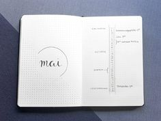 Minimalistisches Bullet Journal im Mai 2019 | alionsworld.de Lettering, Mai, Shabby Chic, Notebook, Notes, Bullet Journals, Journaling, Deco, Bullet Journal Ideas