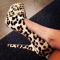 leopard + studs