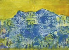 Max Ernst - Blue Mountain and Yellow Sky (Arizona Landscape), 1959 Max Ernst, Neo Rauch, Karl Hofer, Ludwig Meidner, Dada Artists, Hans Thoma, Classical Realism, Yellow Sky, Scenic Design