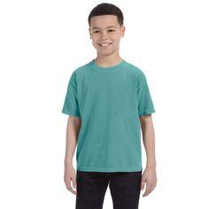 Boys' Garment-dyed Seafoam Ring-spun T-shirt