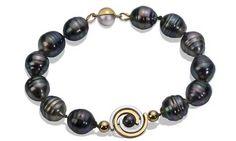 Martha Seely Petite Spiral Tahitian pearl bracelet