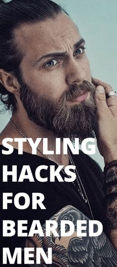 2 Easy Beard Styling Hacks You Mustn& Miss - Styling Hacks for . - 2 Easy Beard Styling Hacks You Can& Miss – Styling Hacks for Bearded Men – - Trimmed Beard Styles, Faded Beard Styles, Long Beard Styles, Beard Styles For Men, Hair And Beard Styles, Shaved Head With Beard, Bald With Beard, Beard Fade, Men Beard