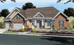 House Plan 66460   Traditional Plan with 2695 Sq. Ft., 4 Bedrooms, 4 Bathrooms, 3 Car Garage at family home plans