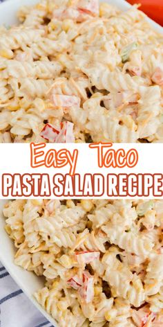 Taco Side Dishes, Pasta Dishes, Side Dishes With Tacos, Sides With Tacos, Salades Taco, Ceasar Salat, Healthy Cooking, Cooking Recipes, Cooking Ham