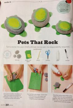 """Pets That Rock"" - how to make a pet rock turtle :)"