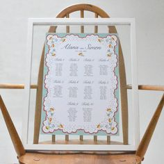 Wedding Seating Plan  Spring Petals Design. by lucysaysido on Etsy