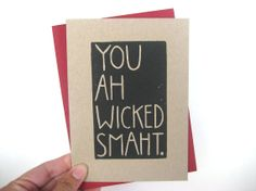 """fun card, makes me want to watch Good Will Hunting. """"How you like dem apples!"""""""