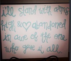 Arms high & heart abandoned canvas on Etsy, $10.00