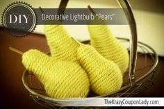 Make These Lovely Decorative Pears with Lightbulbs!