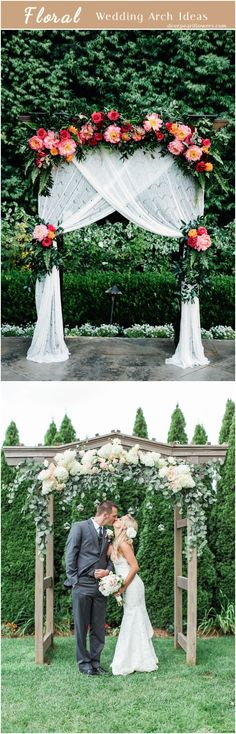 Floral wedding ceremony arch ideas #weddingarch #weddingdecor #weddingbackdrops #flroal #wedding #dpf #deerpearlflowers ❤️ http://www.deerpearlflowers.com/floral-wedding-arch-canopy-ideas/