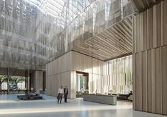 Designs Unveiled for New Australian Embassy in Washington DC,View North East from Entry to Breakout Space. Image Courtesy of Bates Smart
