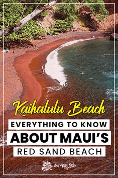 Kaihalulu Beach: Maui's Red Sand Beach Learn everything there is know about the Red Sand Beach in Maui, Hawaii. Kaihalulu Beach is one of the best beaches in Maui, and one of the best Road to Hana stops. Trip To Maui, Hawaii Vacation, Beach Trip, Vacation Spots, Hawaii Travel Guide, Maui Travel, Hawaii Hikes, Maui Hawaii, Red Sand Beach Maui