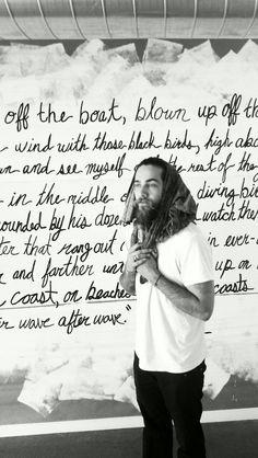 justin bobby.  Beard fashion men tumblr Style streetstyle white t shirt celeb hair fear the beard