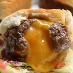 Cheese-Stuffed Burger Bombs Recipe by Tasty Tasty Videos, Food Videos, Food Blogs, Beef Recipes, Cooking Recipes, Slider Recipes, Beef Dishes, Love Food, Food To Make