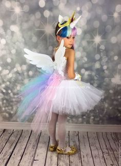 Trendy Ideas For Dress Princess Kids Tutus Unicorn Halloween Costume, Halloween Kostüm, Girl Costumes, Halloween Costumes For Kids, Kids Costumes Girls, Diy Princess Costume, Princesa Celestia, Unicorn Outfit, Unicorn Pics