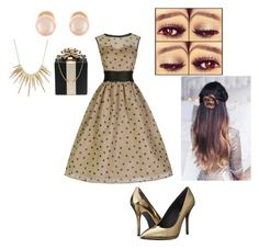 """""""Party"""" by vegas-lights ❤ liked on Polyvore featuring Pierre Balmain, Kate Spade, Kenneth Jay Lane and Alexis Bittar"""